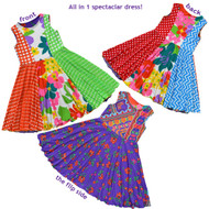 Kaleidoscope Reversible Twirly Dress | Ring Around the Daisies