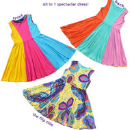 Kaleidoscope Reversible Twirly Dress | Rainbow of Dreams