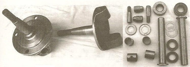 Forged 1937-48 Ford round reproduction spindles with king pins installed