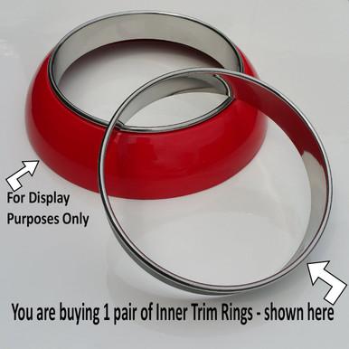 Stainless Inner Trim Ring for Frenching Headlight Rings, Merc Style,