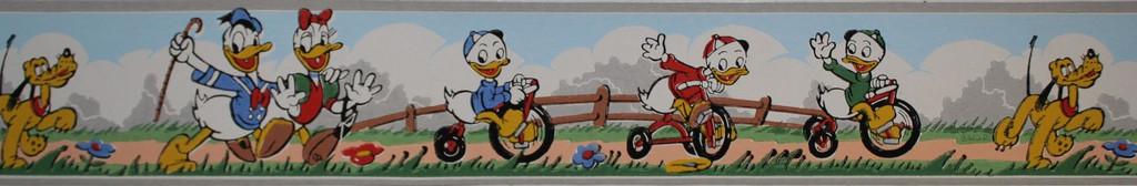 Dex Vintage Wallpaper Border Disney Donald Duck