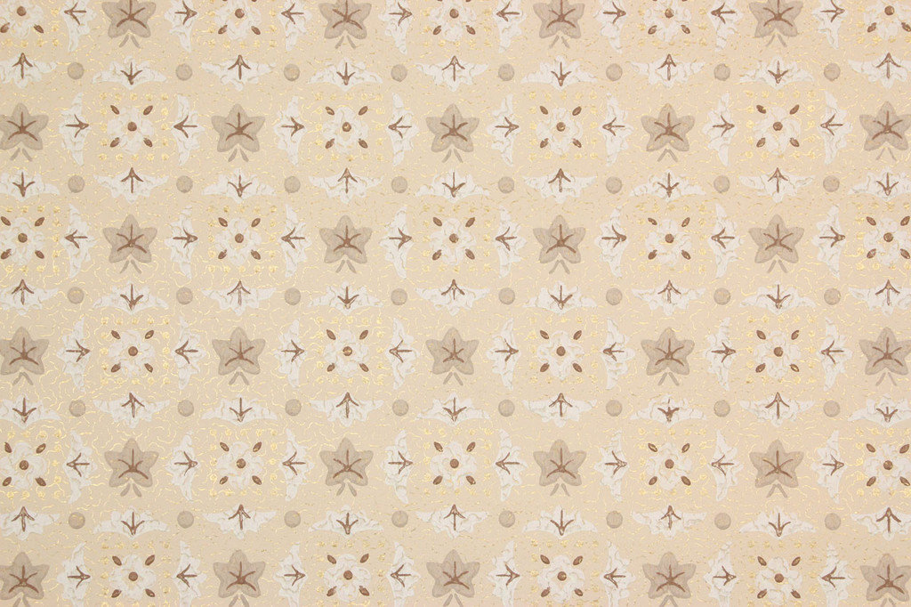 1950s Vintage Wallpaper Beige Geometric