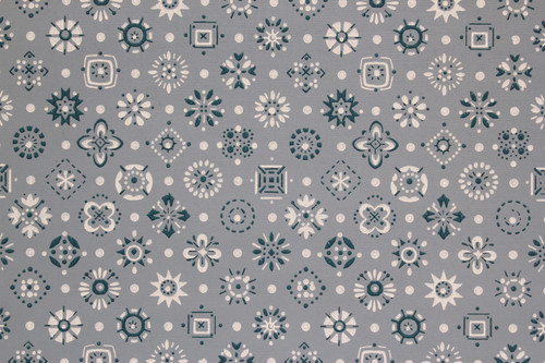 1950s Vintage Wallpaper Blue and White Geometric