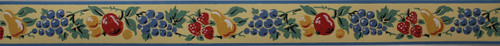 Imperial Vintage Wallpaper Border Fruit Yellow Small
