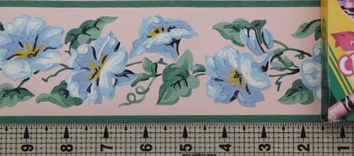 Imperial Vintage Wallpaper Border Morning Glory Blue