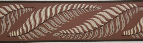 Trimz Vintage Wallpaper Border Fern Formal Brown