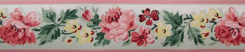 Imperial Vintage Wallpaper Border Rose Green