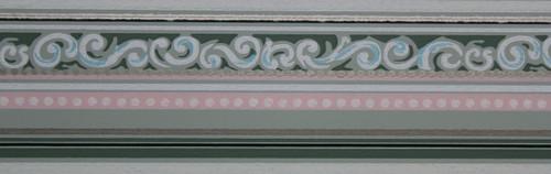 Trimz Vintage Wallpaper Border Green Stripe