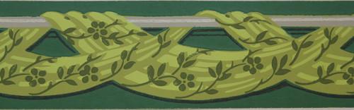 Trimz Vintage Wallpaper Border Chartreuse Drape