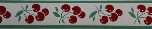 Trimz Vintage Wallpaper Border Cherry Cluster