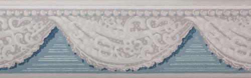 Trimz Vintage Wallpaper Border Lace Swag Blue