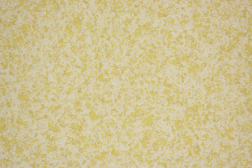 1950s Vintage Wallpaper Yellow White Swirl with Gold Metallic