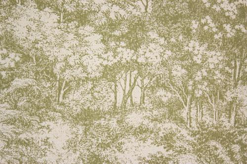 1970s Vintage Wallpaper Vinyl Green Trees