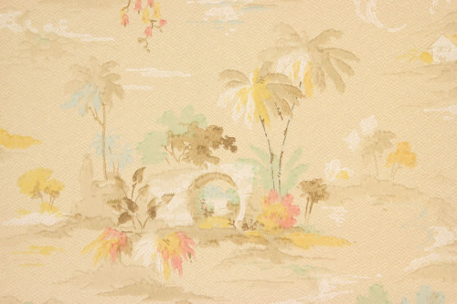 1920s Vintage Wallpaper Palm Trees