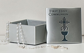 First Holy Communion Reflections of Love Rosary or Keepsake Box