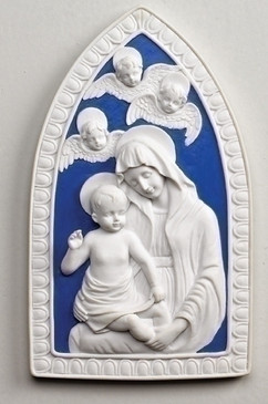 "Wall Plaque with Madonna and Child (8"")"