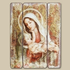 "A Child's Touch Madonna and Child Wall Plaque (15"")"
