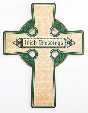 "Irish Blessings Wall Cross (12.25"")"