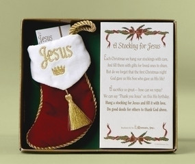 Stocking for Jesus Ornament