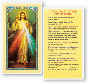 Chaplet of the Divine Mercy Laminated Holy Card