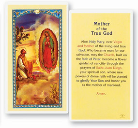 Mother of True God Laminated Holy Card