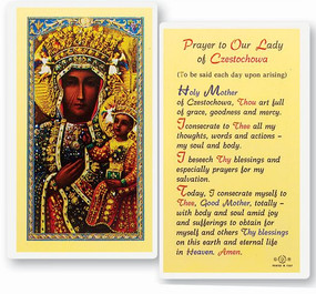 Our Lady of Czestochowa Prayer Laminated Holy Card
