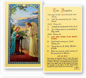 Angelus Prayer Laminated Holy Card