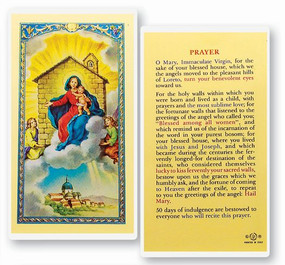 Our Lady of Loretto Prayer Laminated Holy Card