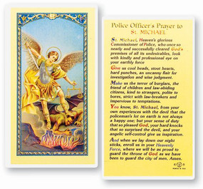 St. Michael Police Officer's Prayer Laminated Holy Card