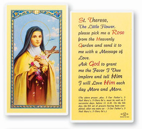 St. Therese Laminated Holy Card