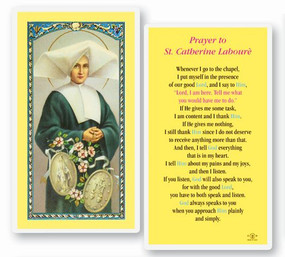 St. Catherine Laboure Laminated Holy Card