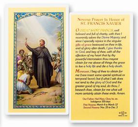 St. Francis Xavier Novena Prayer Laminated Holy Card