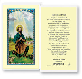 St. Isidore Prayer Laminated Holy Card