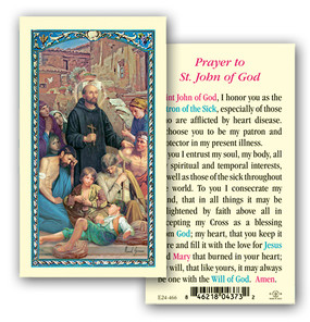 St. John of God Prayer Laminated Holy Card