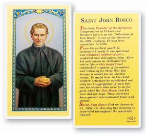 St. John Bosco Laminated Holy Card