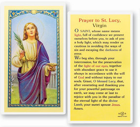 St. Lucy Prayer Laminated Holy Card