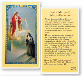 St. Margaret Mary Alacoque Laminated Holy Card
