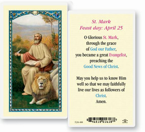 St. Mark Laminated Holy Card