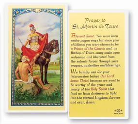 St. Martin of Tours Prayer Laminated Holy Card