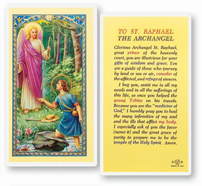 St. Raphael the Archangel Prayer Laminated Holy Card