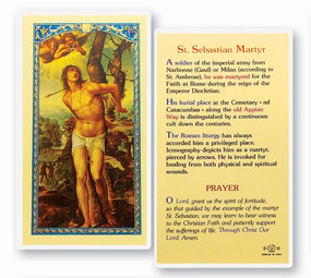 St. Sebastian Martyr Laminated Holy Card