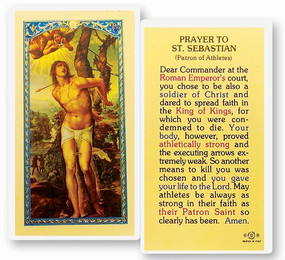 St. Sebastian Prayer Laminated Holy Card