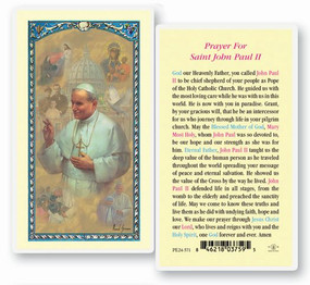 St. Pope John Paul II Laminated Holy Card