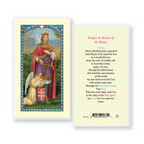 St. Henry Prayer Laminated Holy Card