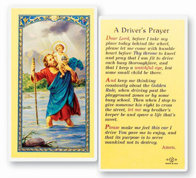 St. Christopher Driver's Prayer Laminated Holy Card