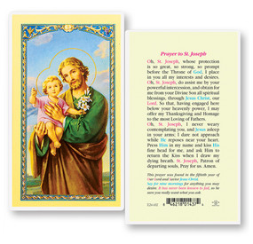 St. Joseph 50th Year of Our Lord Prayer Laminated Holy Card