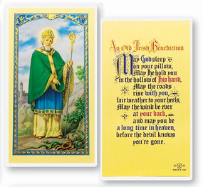 St. Patrick - An Old Irish Benediction Laminated Holy Card
