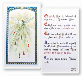 Holy Spirit Prayer Laminated Holy Card