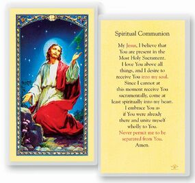 Spiritual Communication Laminated Holy Card