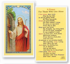 Prayer for Those Who Live Alone Laminated Holy Card